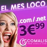 Dominios .COM y .NET por 3.99€ en Comalis