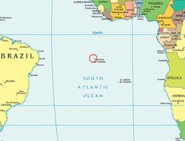 Ascensión, en medio del Atlántico