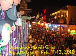 Domainer Mardi Gras entre los días 11 y 13 de Febrero de 2010
