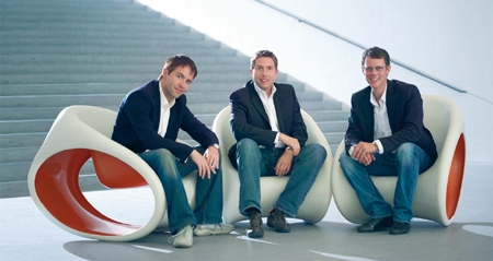 Markus Eggensperger, Florian Huber y Alexander Helm