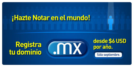 Dominios .mx desde 6$