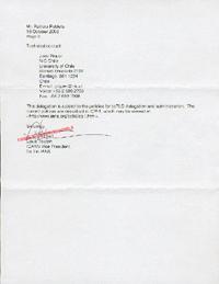 Documento de delegación de los dominios de Chile, página 2