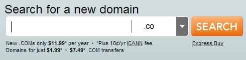 Los dominios .co por defecto