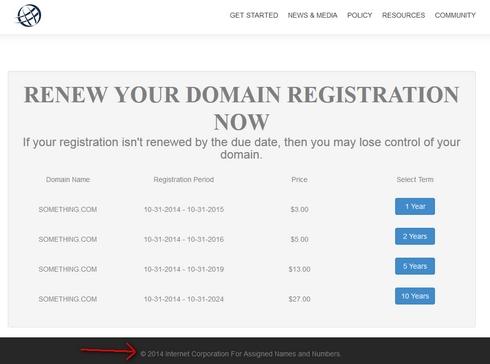 La estafa de la renovación de dominios