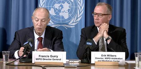 Directores de la WIPO en Conferencia de prensa