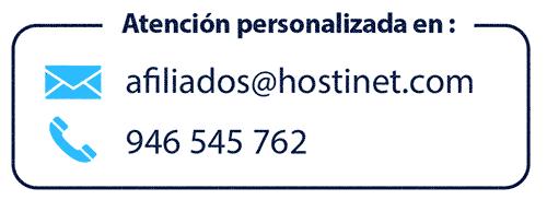 Contacto del programa de afiliados de Hostinet
