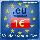 Dominios .eu a 1€