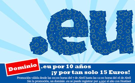 Registra tu Dominio .eu por 10 Años y por tan solo 15 Euros