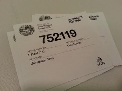 Primeros tickets para la loteria de la ICANN