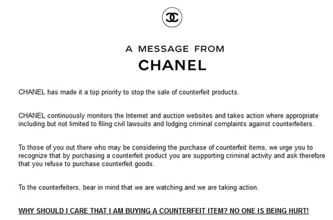 Las advertencias de Chanel