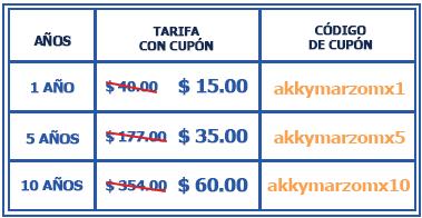 Promociones de dominios .mx 2017